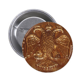 Double Headed Eagle Byzantine Empire Coat Of Arms Pinback Button