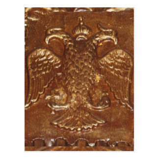 Double Headed Eagle Byzantine Empire Coat Of Arms Postcard