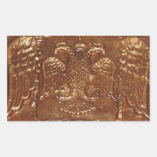 Double Headed Eagle Byzantine Empire Coat Of Arms Rectangular Sticker