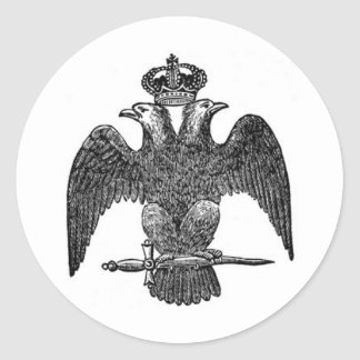 Double-headed eagle classic round sticker