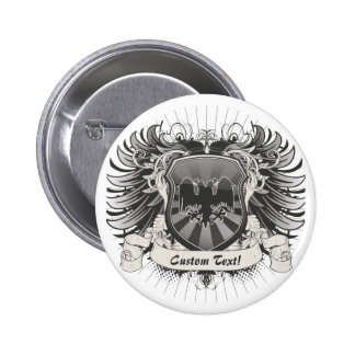 Double Headed Eagle Crest Pinback Button