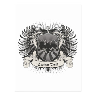 Double Headed Eagle Crest Postcard