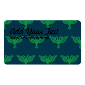 Double Headed Eagle Green Blue Business Card