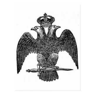 Double-headed eagle postcard