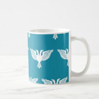 Double Headed Eagle White Blue Coffee Mug