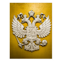 Double Headed Gold Eagle Postcard