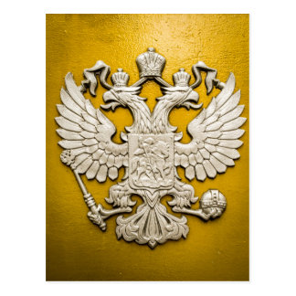 Double Headed Gold Eagle Postcard