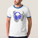 Double Headphone Ringer Tee
