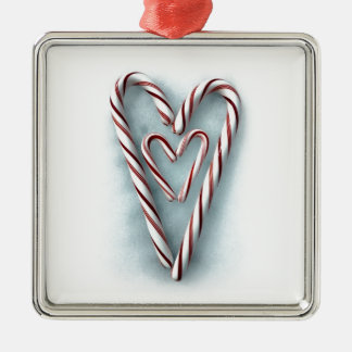 Double-Heart Candy Canes Ornaments
