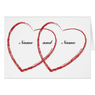 Double Heart Cards Double Heart Card Templates Postage