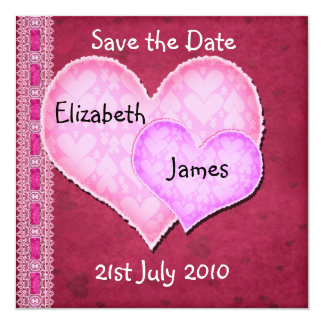 Double Heart Invitation