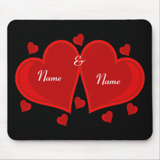 Double Heart Mouse Pad