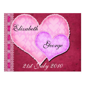 Double Heart Postcard