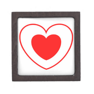 Double Heart Red Gift Box