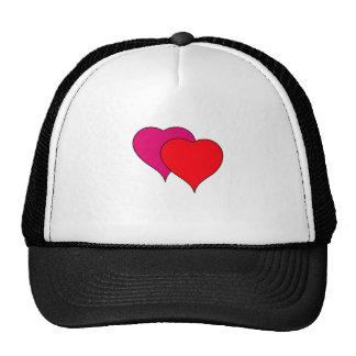 Double heart trucker hats