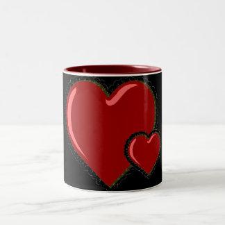 Double Heart Valentine Mug