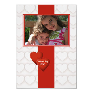 Double Heart Valentine's Day Photo Card