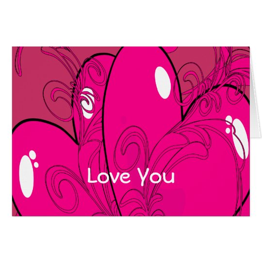 Double Hearts Card