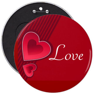 Double Hearts Love Pinback Button