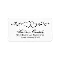 Double Hearts Personalized Wedding Address Labels