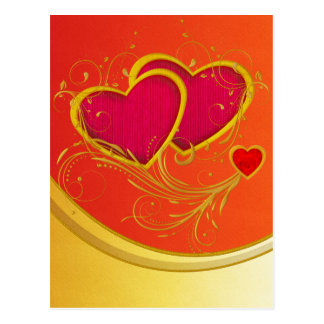 Double Hearts Post Card