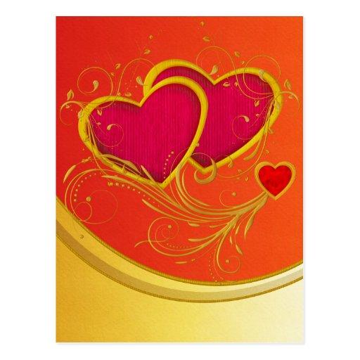 Double Hearts Postcard