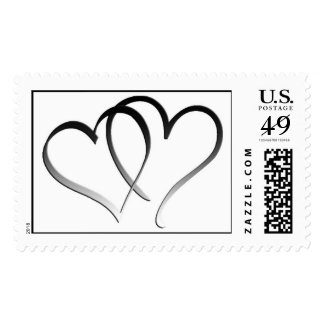 Double Hearts Stamps