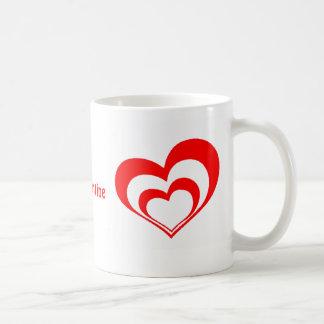 Double Hearts Valentine's Mug