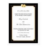 Double Hearts Wedding Invitation Postcard