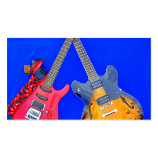 Double Heaven crossed guitars Guitar Art Business Card