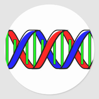 double helix classic round sticker