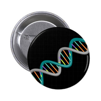 Double Helix Nucleic Acid Pinback Button