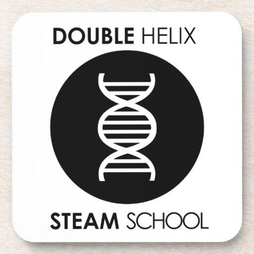 Double Helix STEAM School Original Logo Coaster