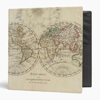 Double hemisphere map 3 ring binders