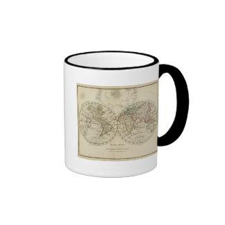 Double hemisphere map coffee mug