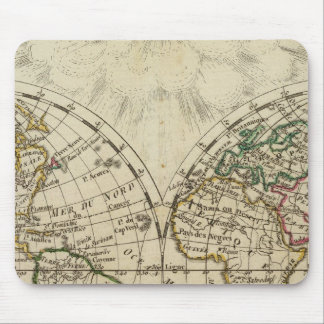 Double hemisphere map mousepads