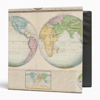 Double Hemisphere Map of the Climate 3 Ring Binder