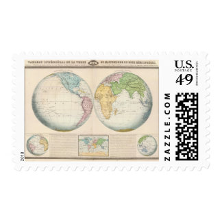 Double Hemisphere Map of the Climate Postage
