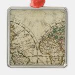 Double hemisphere map ornament