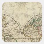 Double hemisphere map stickers