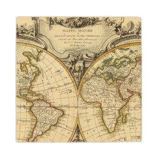Double Hemisphere Maple Wood Coaster