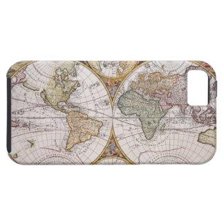 Double Hemisphere Polar Map iPhone 5 Cover