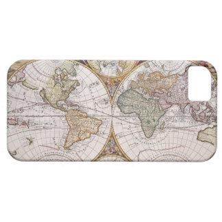 Double Hemisphere Polar Map iPhone 5 Covers