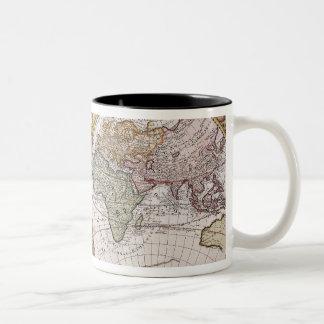 Double Hemisphere Polar Map Two-Tone Coffee Mug