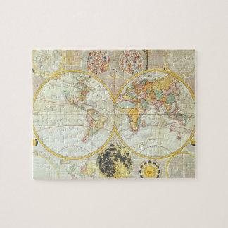 Double Hemisphere World Map Jigsaw Puzzle