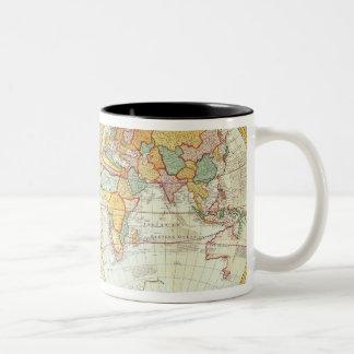 Double Hemisphere World Map Coffee Mugs