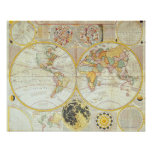 Double Hemisphere World Map Poster