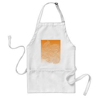 double hibiscus flower orange adult apron