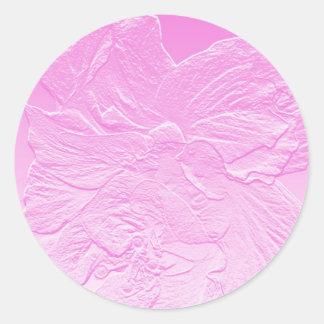 double hibiscus flower pink sticker