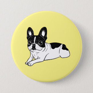 Double Hooded Pied Frenchie Button